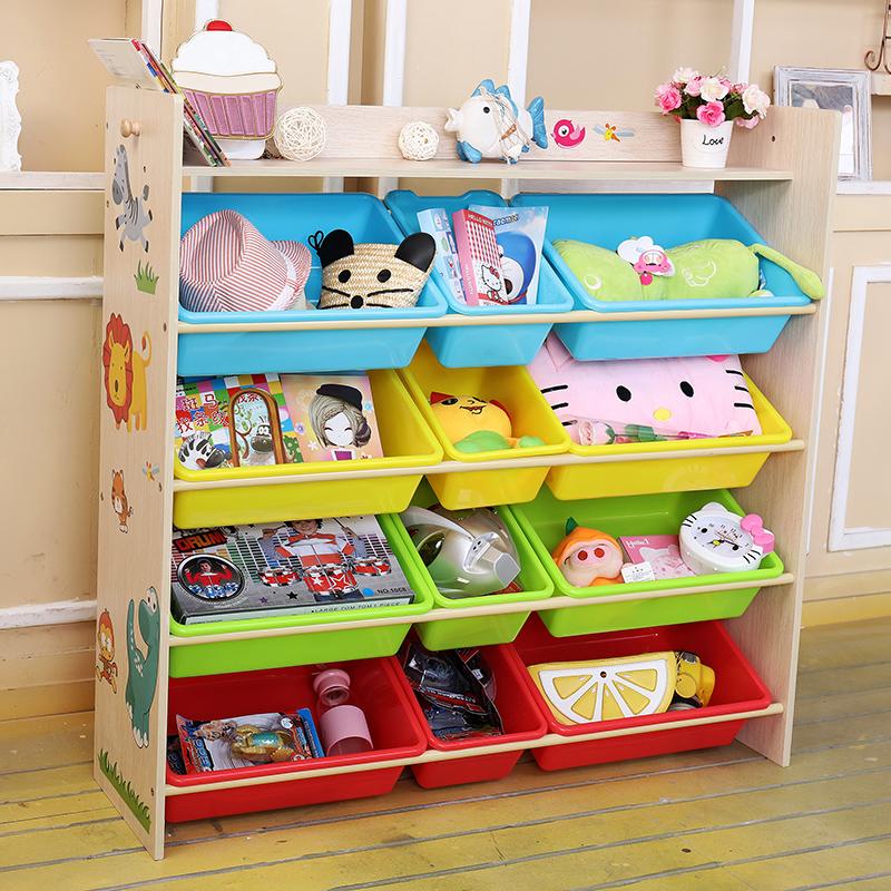 Ребенок игрушка сын стеллажи многослойный хранение полка детский сад легко пластик хранение разбираться хранение кабинет коробка