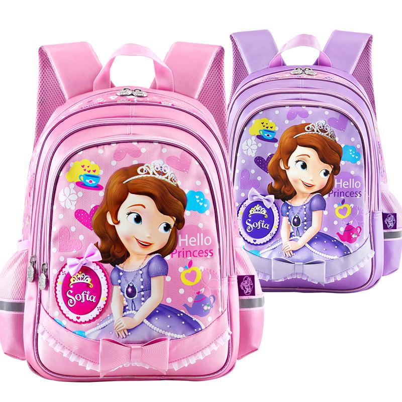 迪士尼書包小學生蘇菲亞女童白雪公主兒童減負雙肩1~3一年級背包