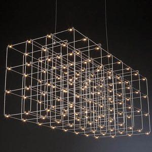 非标定制工程酒店大堂吧台售楼部沙盘满天星复式楼光立方水晶吊灯