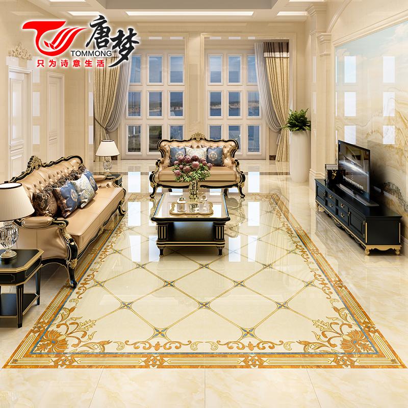 唐梦 拼花地板砖欧式客厅过道入户玄关地花瓷砖800x800防滑地砖