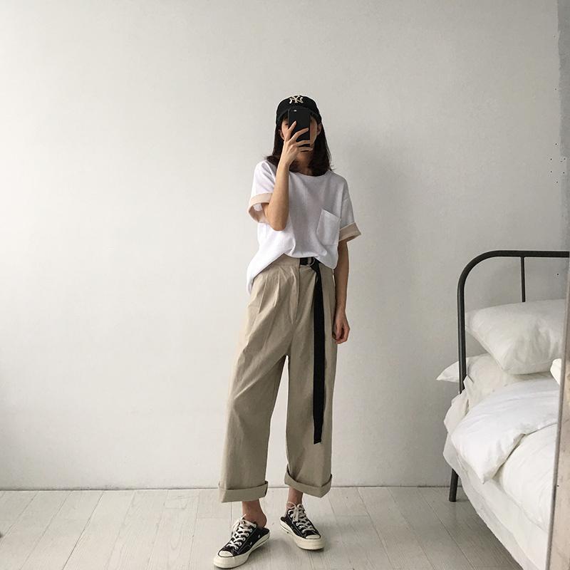 胖妹妹夏装秋装新款2018大码女装胖mm阔腿裤宽松显瘦200斤女裤子