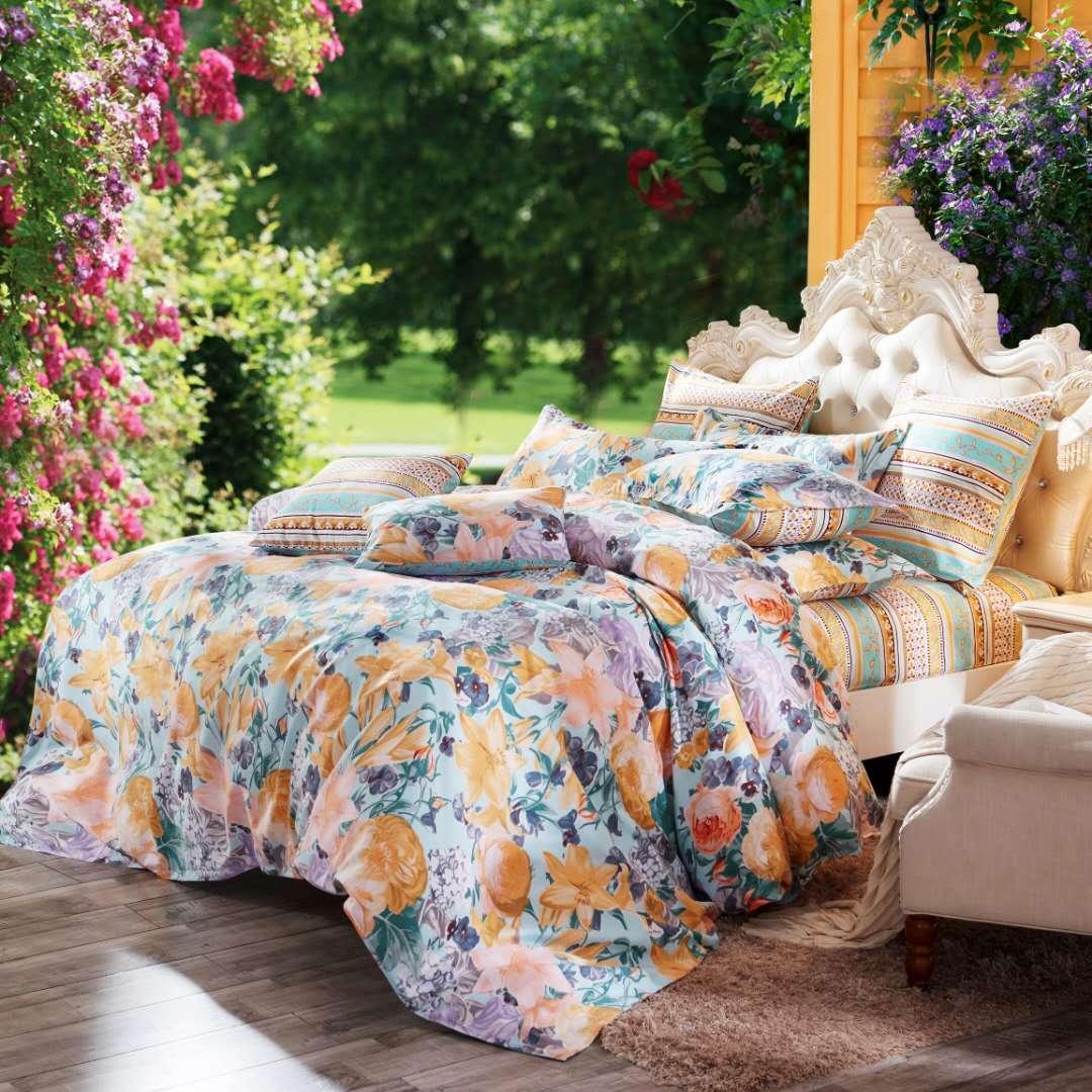 四件套匹马棉磨毛秋冬季欧式床单套件