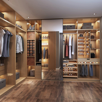 Maggie Cloakroom Wardrobe Custom sliding door Nordic modern minimalist glass door open cloakroom storage