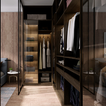 Maggie Open Cloakroom Wardrobe overall custom modern simple bedroom glass door American cloakroom storage