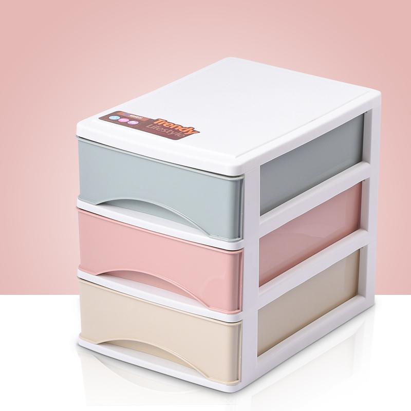 办公桌面收纳盒简约塑料小抽屉式收纳柜书桌上学生文件杂物储物箱图片