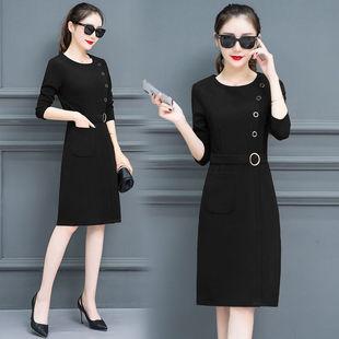 p23秋季新款连衣裙长袖一步裙子