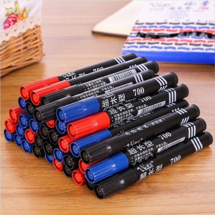 记号笔油性不可擦黑色大头笔快递笔加长防水可加墨马克笔