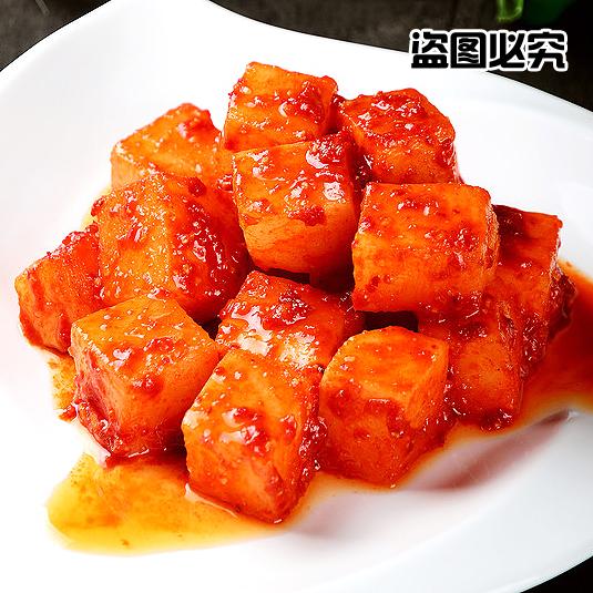 朴家韩式酸辣萝卜泡菜 正宗罗卜 韩国风味萝卜块腌制泡菜 包邮