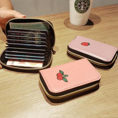 装银放卡的卡包零钱包一体网红女士卡袋卡夹高档精致水果2019新款