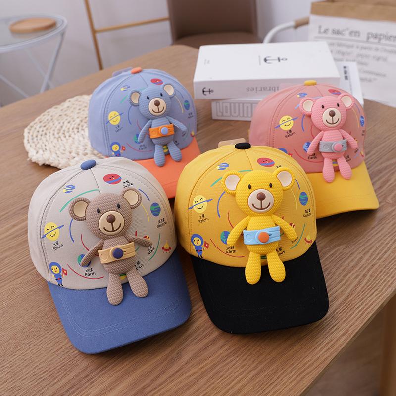 中國代購 中國批發-ibuy99 棒球 宝宝鸭舌帽春季薄款男女童时尚洋气遮阳帽儿童帽子韩版棒球帽潮