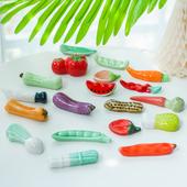 蔬菜筷架 创意家具摆件 zakka 饰品 笔拖 可爱陶瓷家居饰品 装 日式
