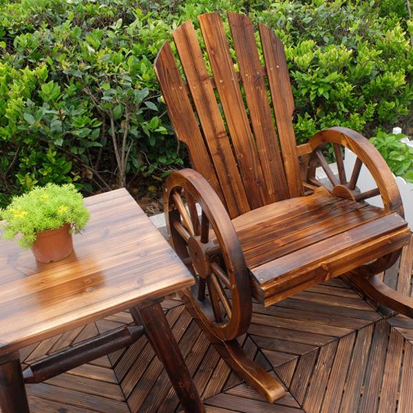 户外防腐实木家具摇摇椅花园阳台躺椅摇椅逍遥椅桌椅休闲桌椅组合