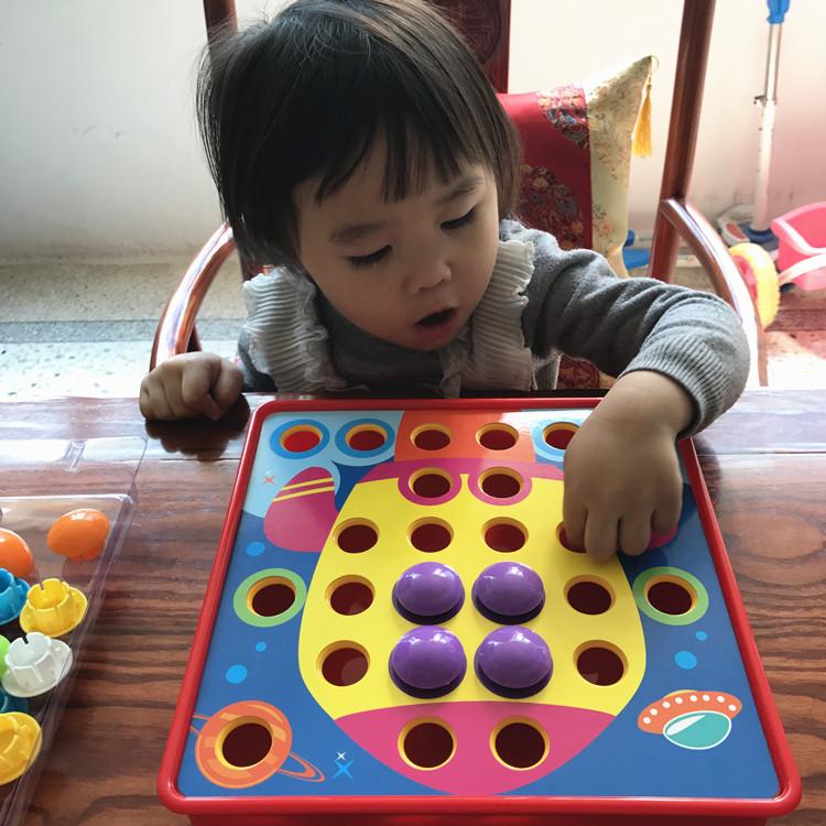 123 лет ребенок заклинание крупных частиц кнопки вставить гриб гвоздь младенец ребенок обучения в раннем возрасте головоломка сила игрушка ребенок подарок