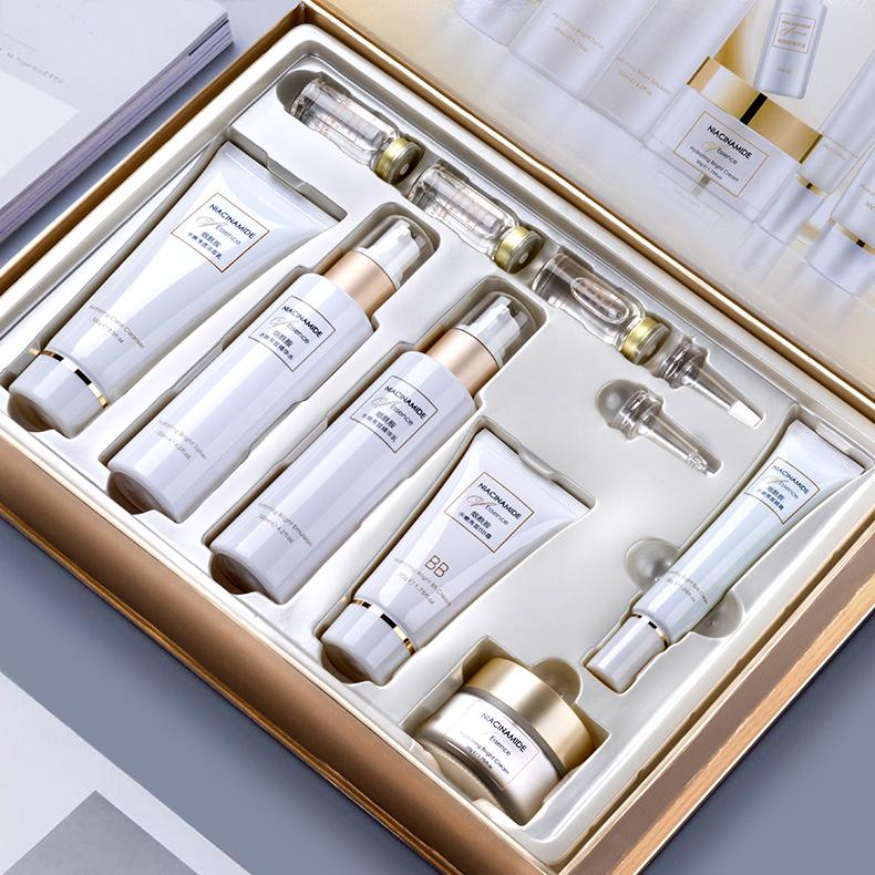 【烟酰胺9件礼盒套装】正品补水保湿水乳全套男女士护肤品化妆品