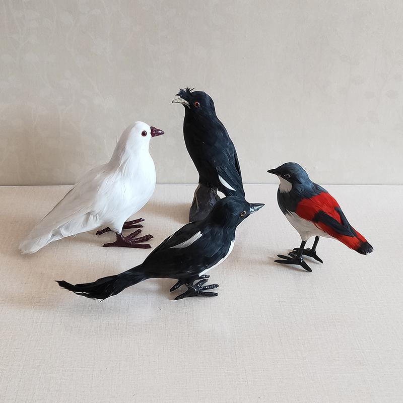 仿真小鸟装饰摆件燕子黄鹂啄木鸟