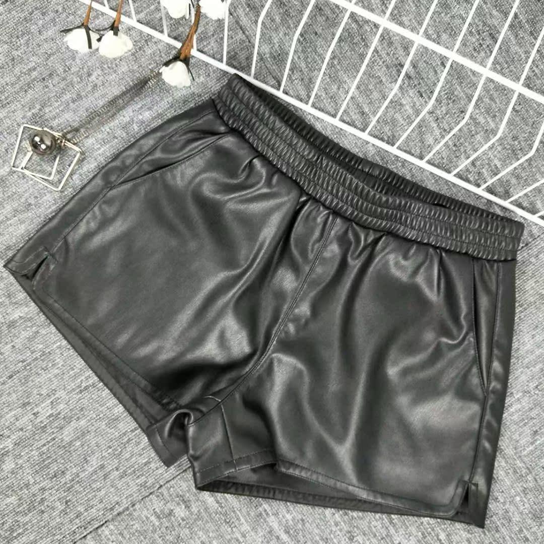 梁辉私人定制2018新款女装松紧带短裤阔脚裤LH-01高订款2028