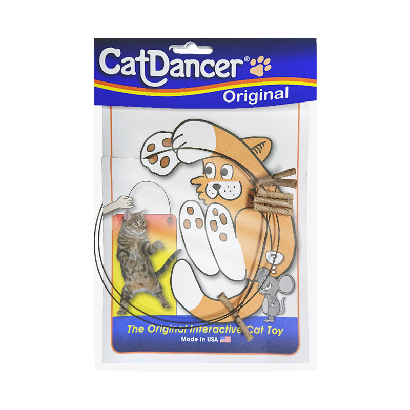 Fun cat stick cat dance independent rope paper shell metal interactive hunting toys