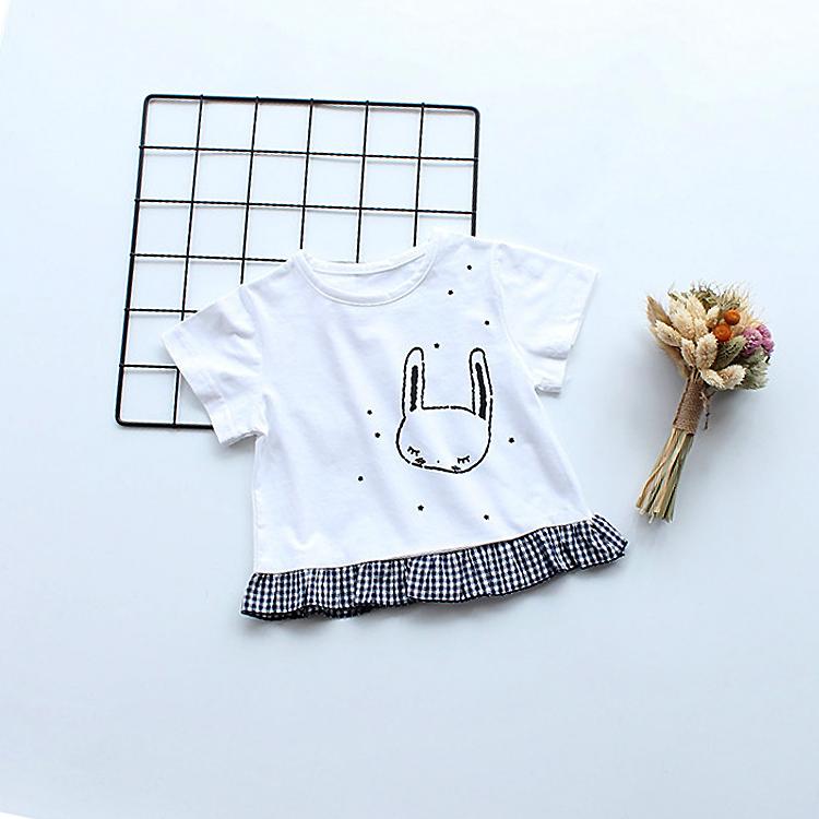 女童短袖t恤薄0-1-3岁韩版宝宝打底衫儿童夏装女半袖纯棉婴儿上衣