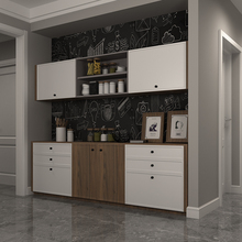 Nordic kitchen cabinet with egret customized modern simple one-glyph baking paint open kitchen cabinet customized furniture