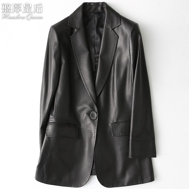 A New Style Women's Style Sheepskin Small Suit Fashion Jacket W.