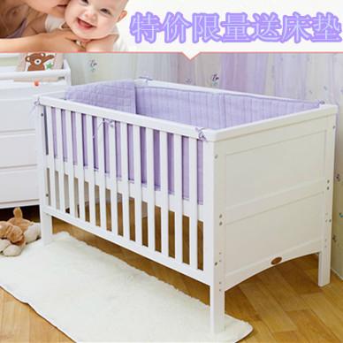 奥美特出口环保多功能实木婴儿床儿童床沙发床新生儿bb双胞胎床