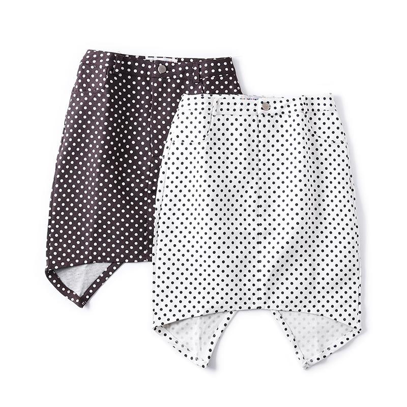 气质减龄波点不规则半身裙女2019秋季新款韩版修身显瘦包臀裙Y-8