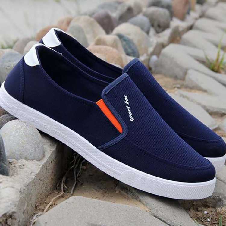 Summer fashion shoes, canvas shoes, mens casual young students, mens breathable and leisurely shoes, lazy cloth shoes
