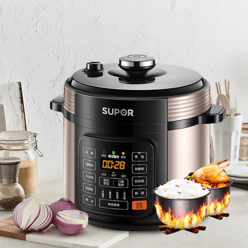 苏泊尔电压力锅6L升家用双胆特大容量全自动智能高压饭煲价正品新