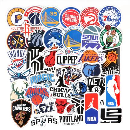 2019年版nba篮球队logo行李箱贴纸