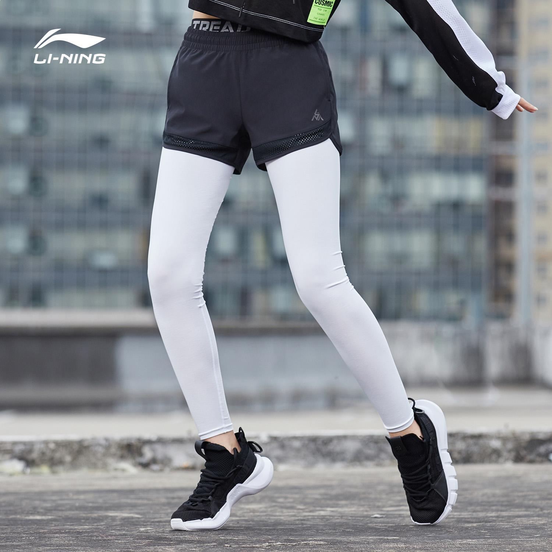 限4000张券李宁运动短裤女士2019新款户外系列裤子夏季梭织运动裤AEKP008