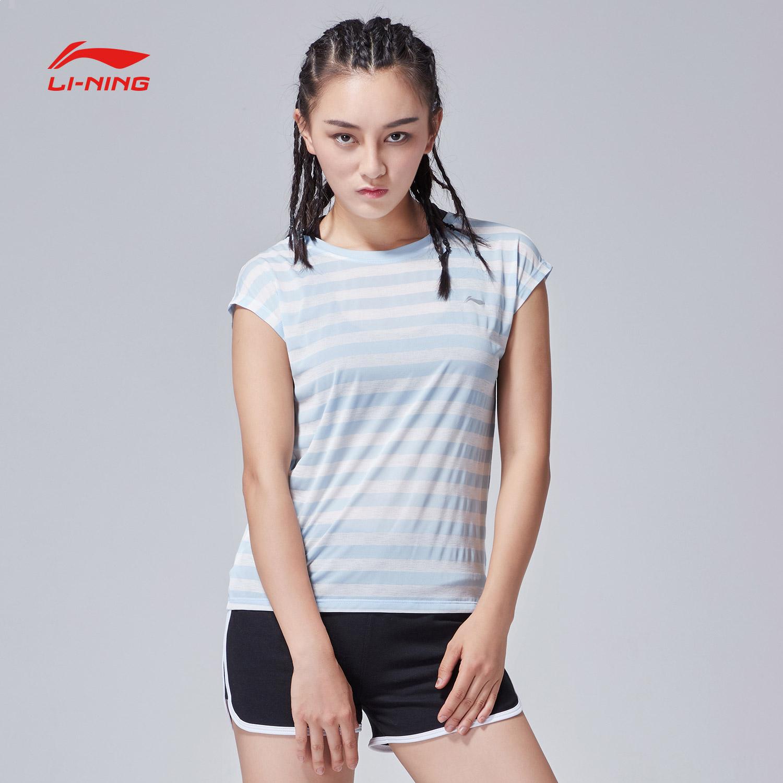 李宁短袖T恤女士2018新款跑步系列运动衣女装短装夏季针织运动服