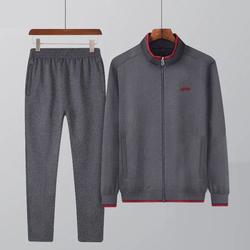 中年运动套装男春秋中老年男士运动服2件套卫衣套装888-p60