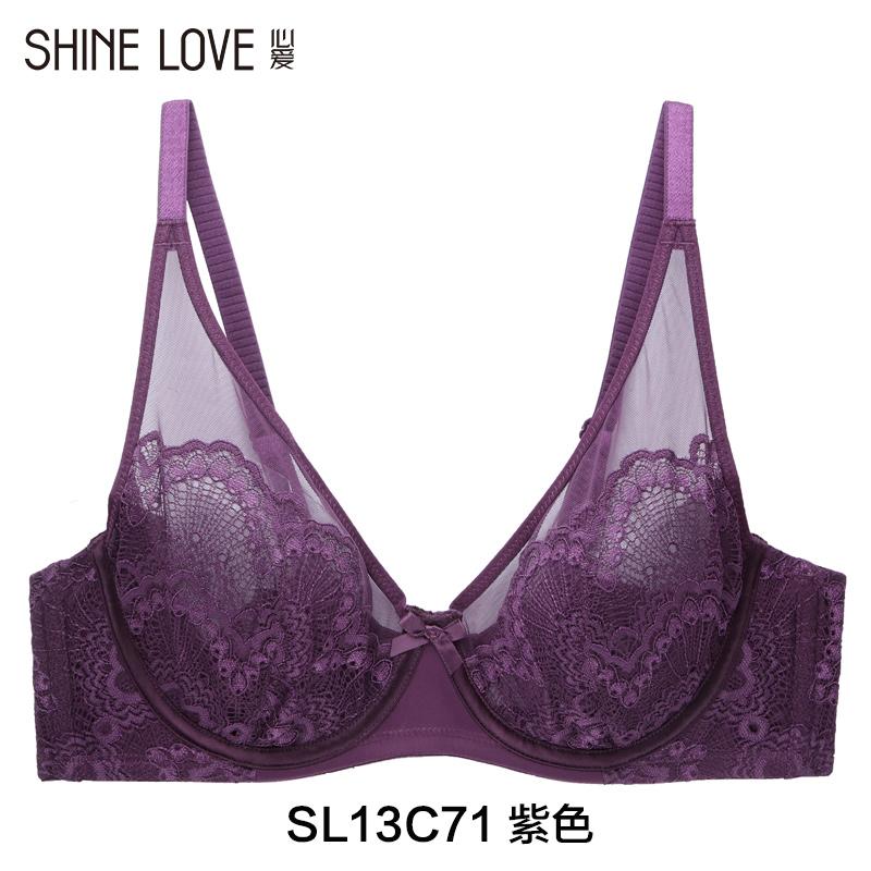 爱慕心爱大杯内衣全罩杯薄透明情趣性感蕾丝透明胸罩文胸SL13C71
