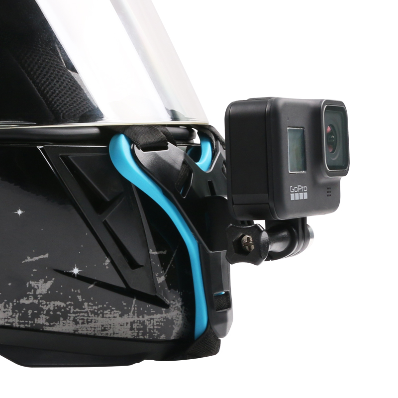 Applicable to GoPro helmet bracket insta360oner accessories action Mountain Dog Sports Camera gopro7 chin bracket fixation gopro8 accessories gopro5 motorcycle riding