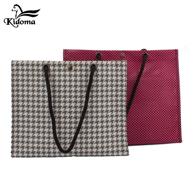 台湾正品Kidoma简约时尚复古编织包肩背手提袋购物袋女包礼品袋