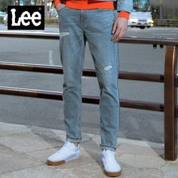 Lee商场同款19秋冬新款浅色水洗破洞舒适男士牛仔裤L147313SP42T