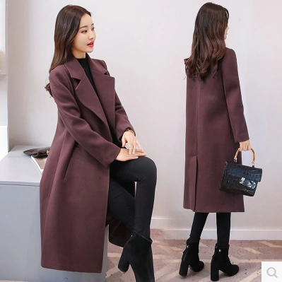 Fashionable woolen coat 2017 long woollen coat the most popular womens clothing in this winter 2017 beautiful clothes