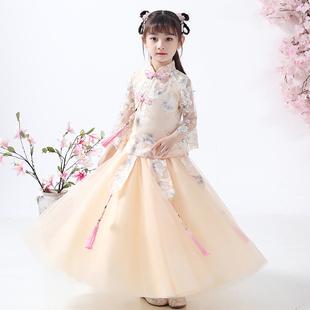 兒童漢服女童2020新款秋裝中國風超仙薄款小女孩櫻花公主古裝夏季