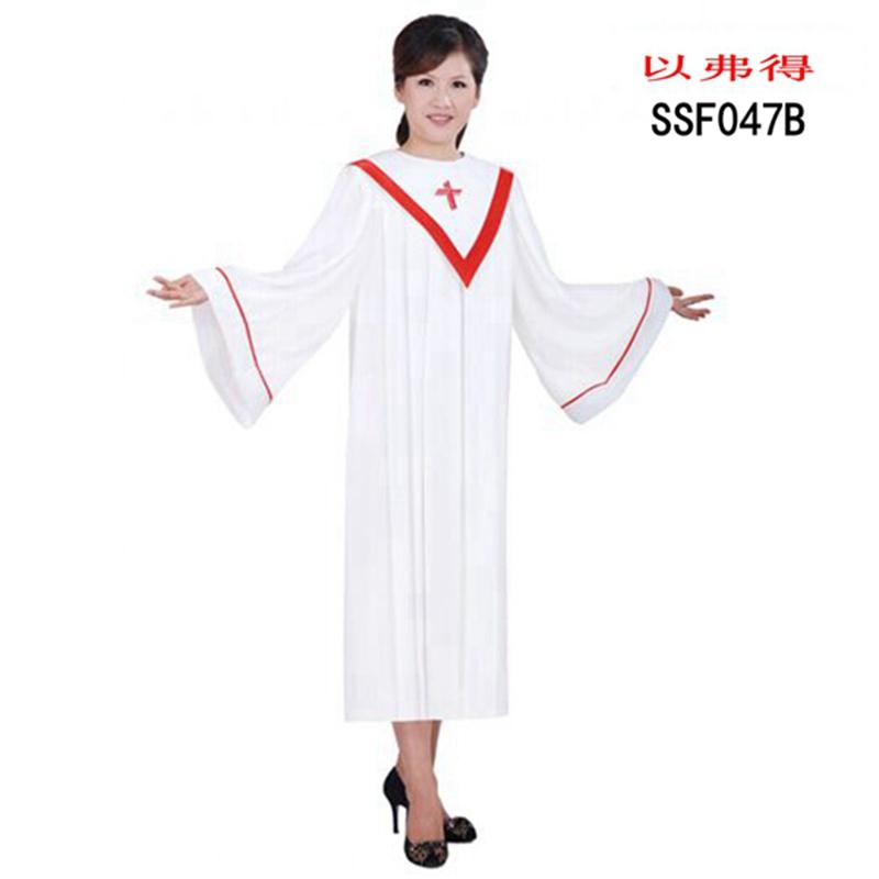 基督教诗班服教堂中老年人大合唱诗服圣服诗袍演出服装以弗得服饰