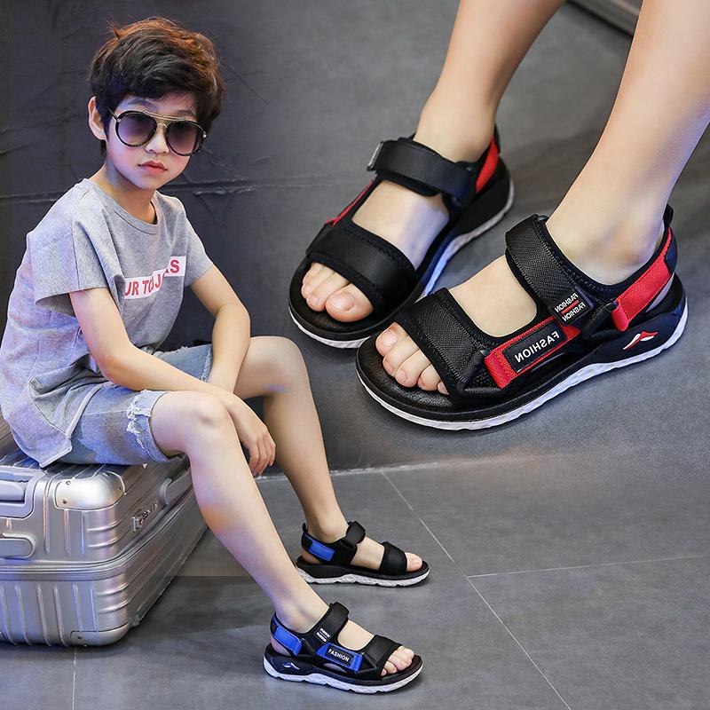 12-02新券男童2019夏季新款韩版中大童沙滩鞋