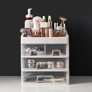 宿舍化妆品收纳盒抖音同款梳妆台抽屉式塑料大学生桌面简约置物架