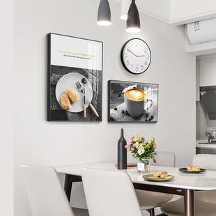 饰画餐厅墙面装 饰 壁画 餐厅装 饰画现代简约创意饭厅挂画电表箱装