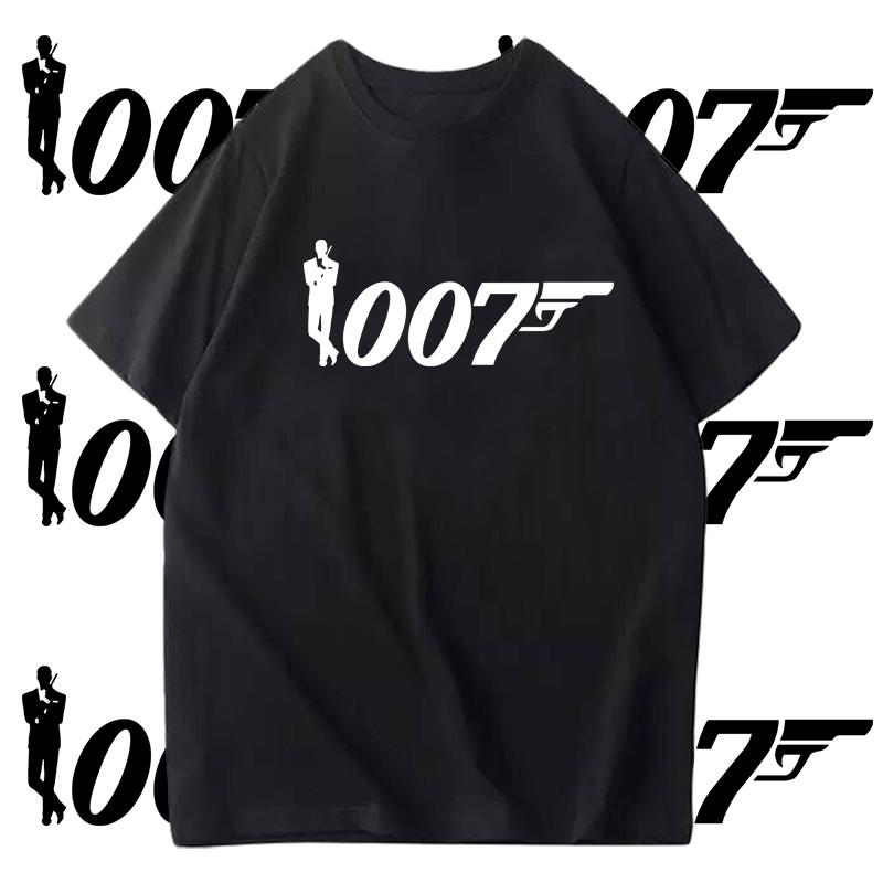 007特工詹姆斯邦德幽灵党电影短袖男女学生纯棉半袖衫体恤衣服T恤