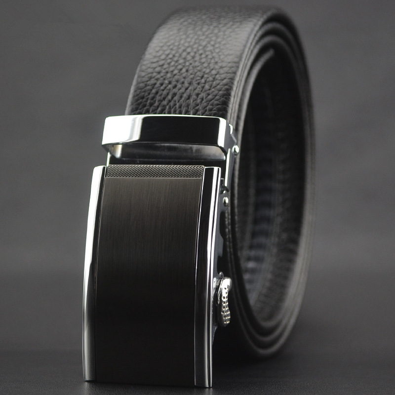 G2000 belt mens business leather top layer leather automatic buckle belt casual all-around Wedding Black Belt
