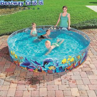 正品Bestway透明硬膠水池嬰兒游泳池家庭戲水池養魚池洗澡 免充氣