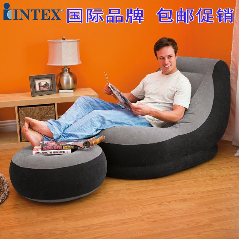 正品INTEX单人充气沙发创意懒人沙发休闲沙发家居躺椅沙发加厚