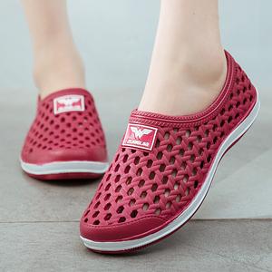 夏季女士洞洞鞋低帮女沙滩鞋韩版潮流防滑情侣大码包头凉鞋女鞋子