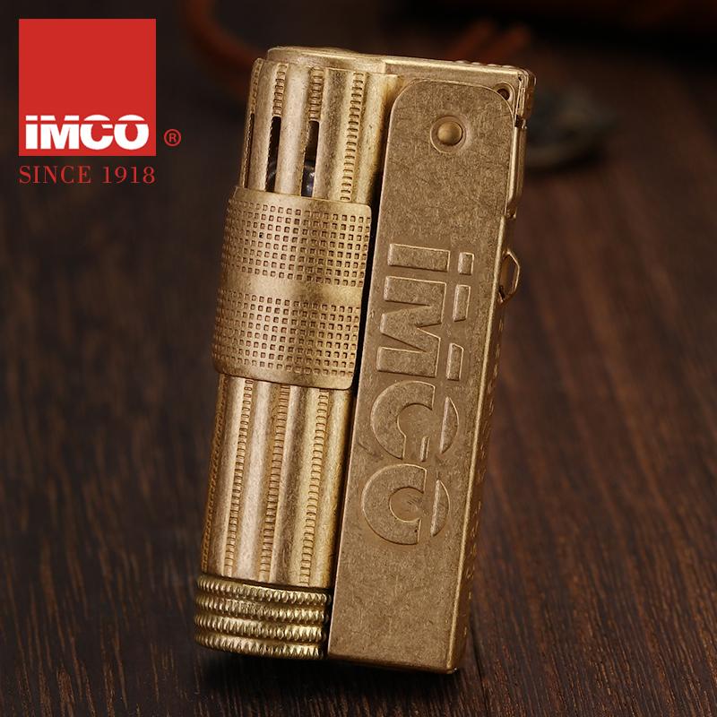 奥地利IMCO煤油打火机爱酷6700黄铜老式怀旧防风国产复古个性创意