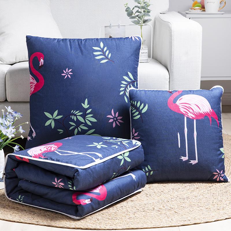 抱枕被子两用枕头被卡通沙发靠垫被办公室靠枕汽车折叠空调被大号