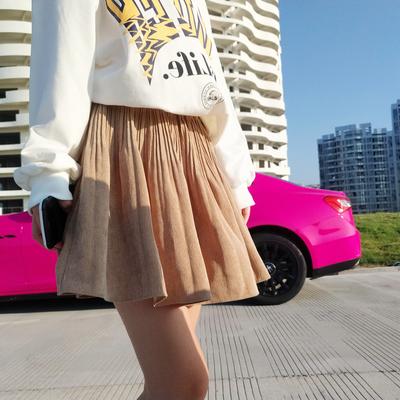 智研 自留推韓國代購2019新款東大門正品時髦洋氣褶皺半身裙百搭